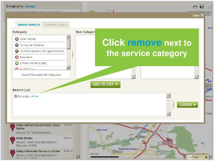 You can add or change the types of services that are mapped<br />
