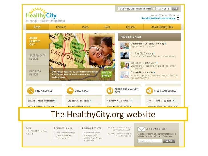 The HealthyCity.org website<br />