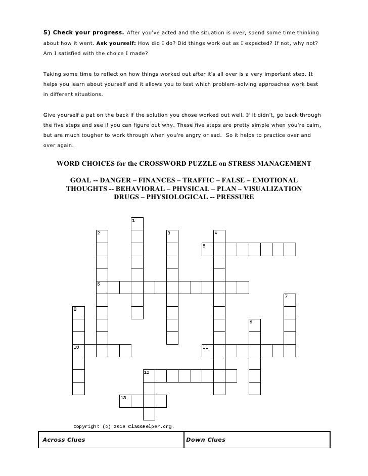 Healthy crossword puzzles 22 ccuart Images