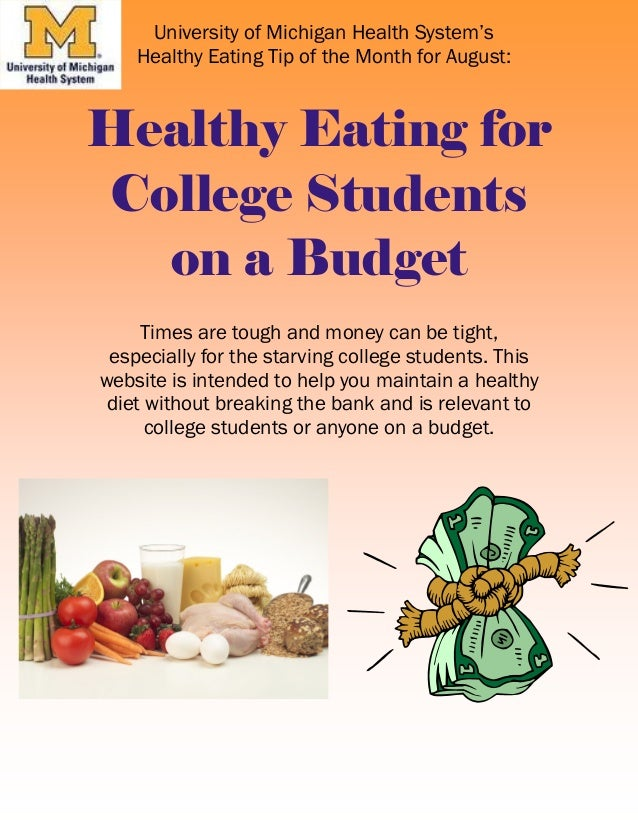 Cheap Healthy Food for College Students