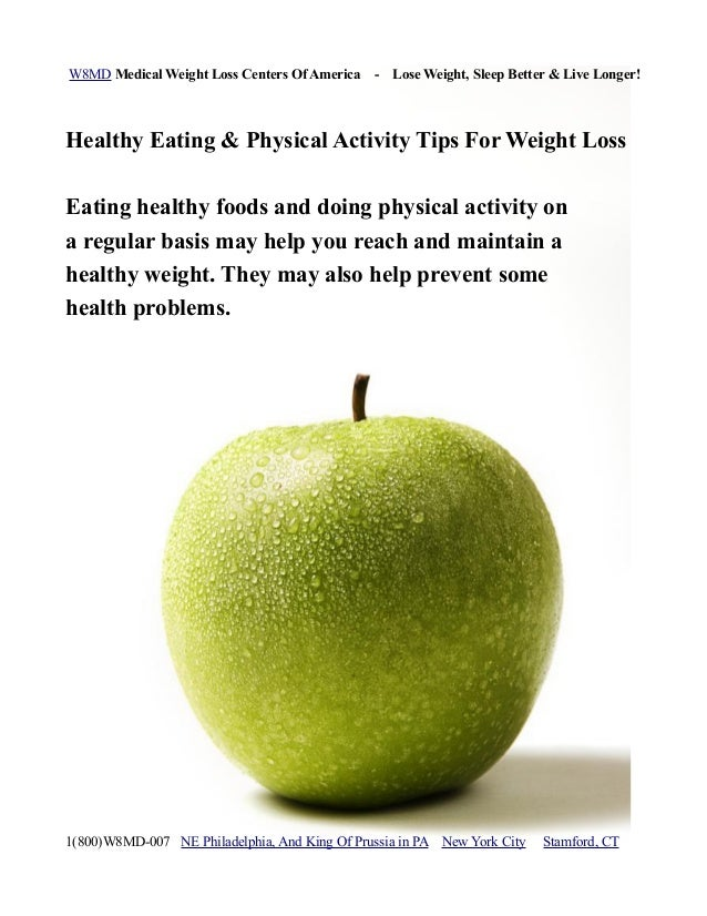 W8MD Medical Weight Loss Centers Of America - Lose Weight, Sleep Better & Live Longer!Healthy Eating & Physical Activity T...