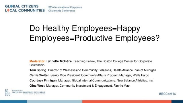 Happy Workers Are Productive Worker