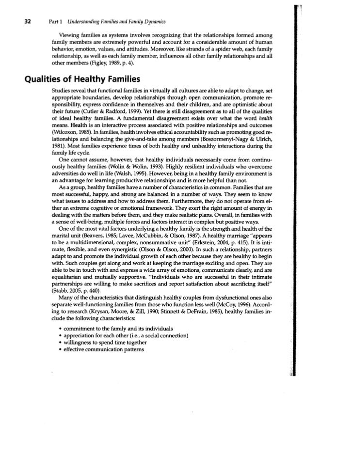 32    Part 1    Understanding Families and Family Dynamics          Viewing families as systems involves recognizing that ...