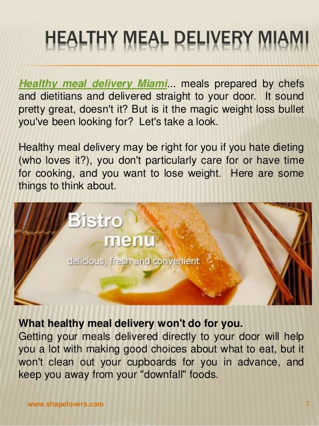 Miami Diet Food Delivery Service