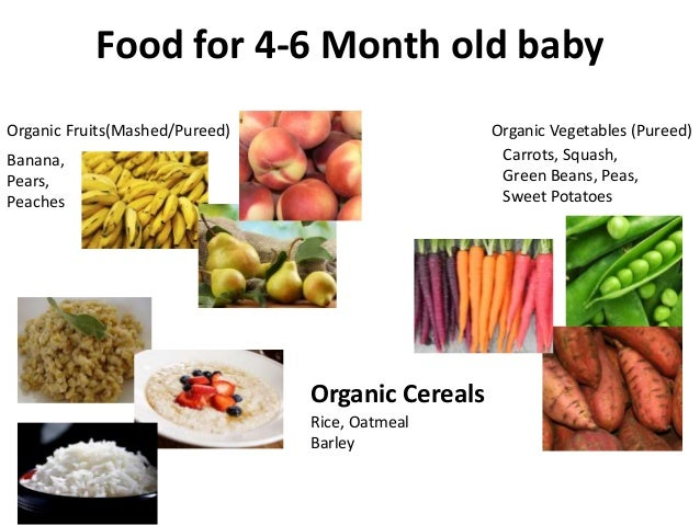 Food A  Month Old Baby Can Eat