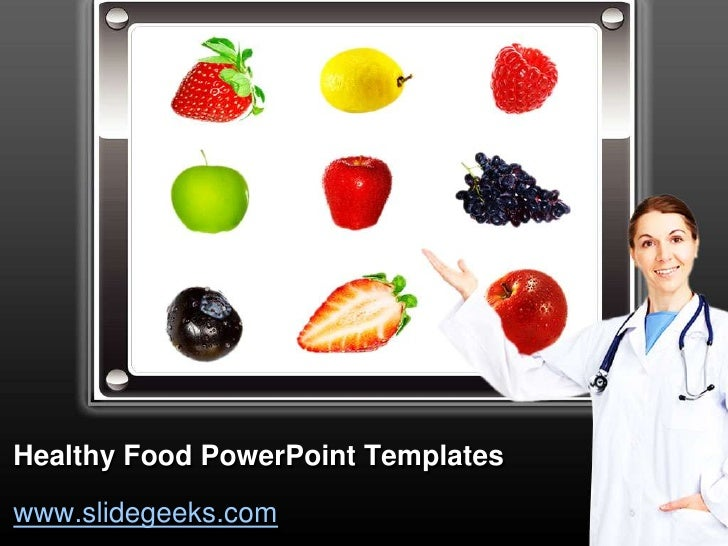 healthy food power point templates. Black Bedroom Furniture Sets. Home Design Ideas