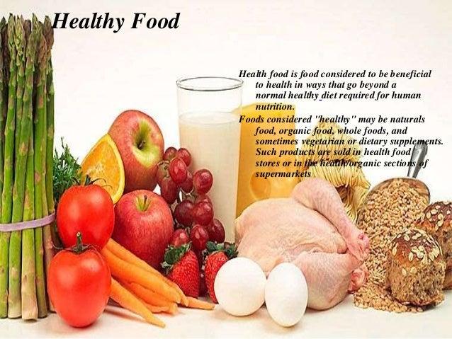 healty food vs fast food