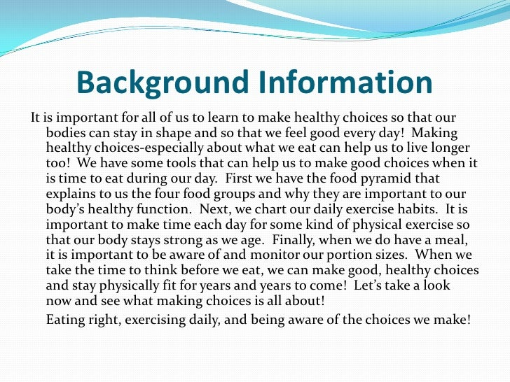 paragraph on healthy habits