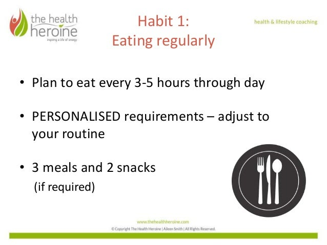 Foundational Habits for a Healthy Lifestyle - Habit 1 & 2 Slide 2