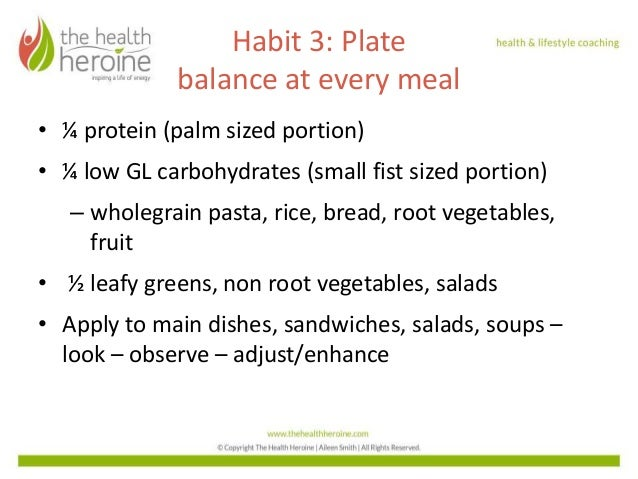 Foundational Habits for a Healthy Lifestyle - Habit 3 & 4 Slide 2
