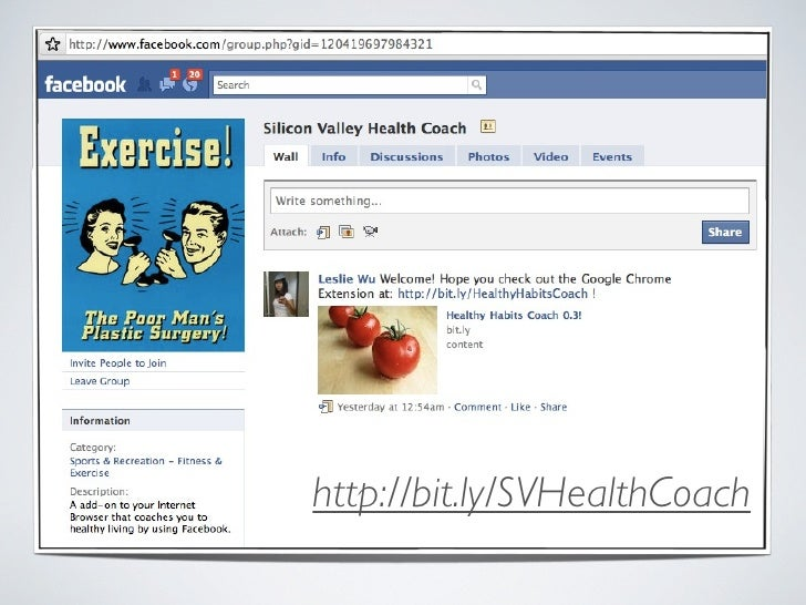 the Healthy Habits Coach: a Chrome-Facebook Extension