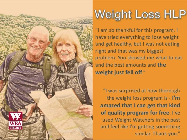 What they say - Healthy Living Programs