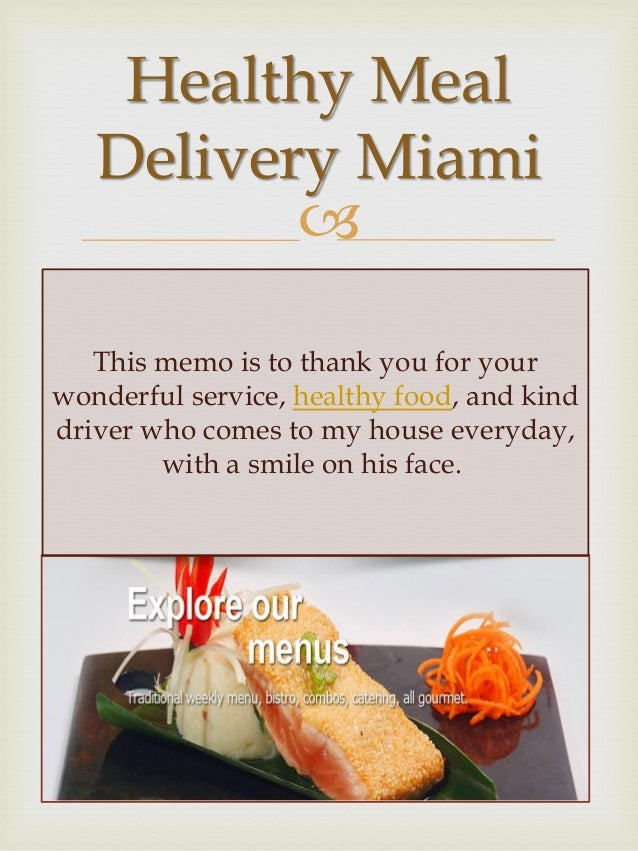 Healthy Food Delivered To Your House