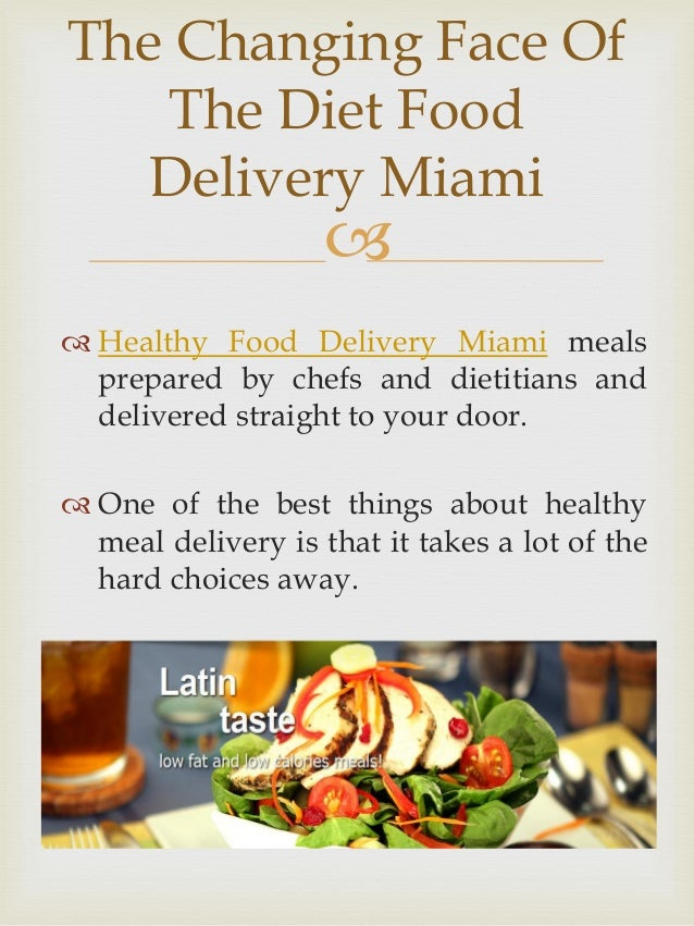 Miami Diet Food Delivery Service