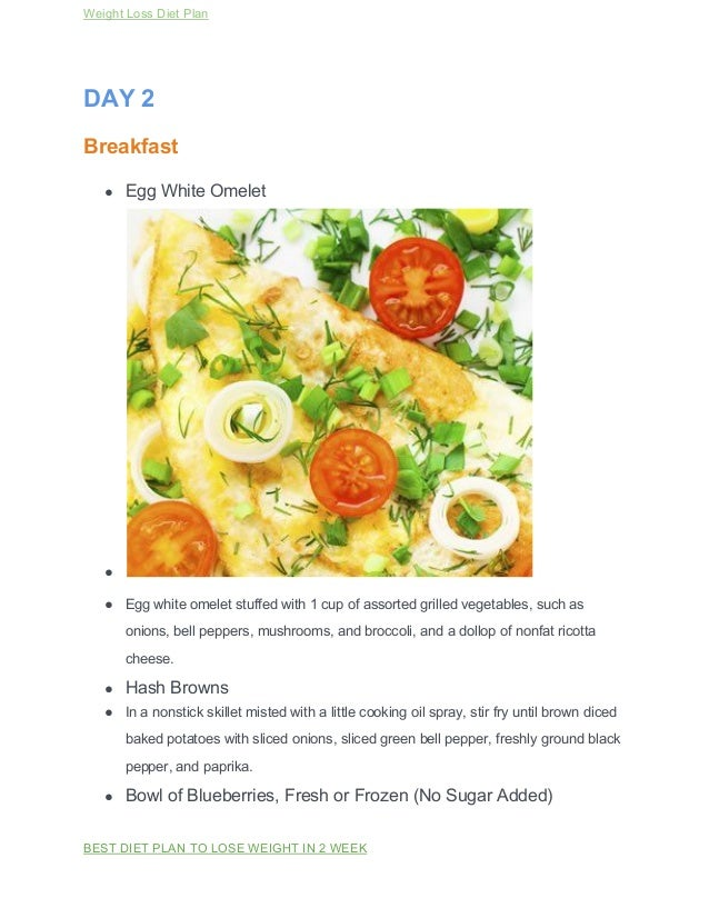 Healthy meal plan for weight loss