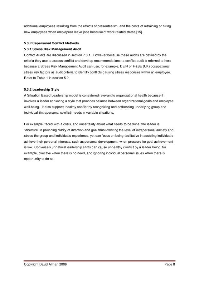 healthy organizations from conflict management v pdf  8 additional