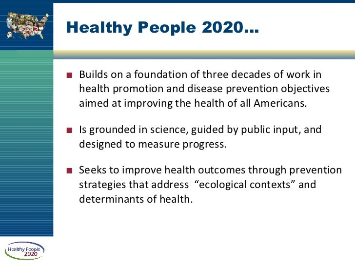 A Look at Healthypeople 2020 Health Disparities