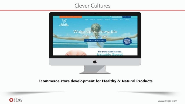 www.infigic.com Clever Cultures Ecommerce store development for Healthy & Natural Products