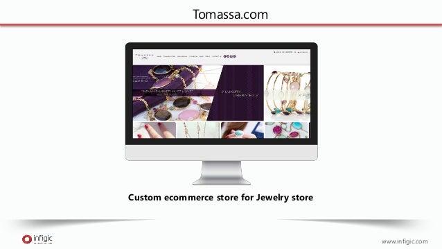 www.infigic.com Tomassa.com Custom ecommerce store for Jewelry store