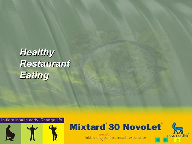 Healthy Restaurant Eating