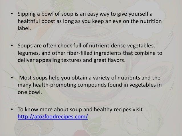 Healthy soup varieties
