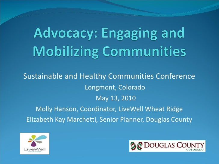 Sustainable and Healthy Communities Conference Longmont, Colorado May 13, 2010 Molly Hanson, Coordinator, LiveWell Wheat R...