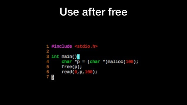 Use after free