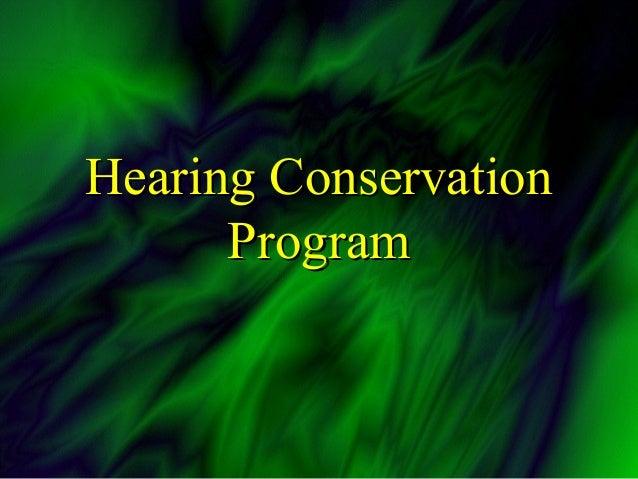 Hearing Conservation Training Program by U.S. Navy's Public Safety Ce…