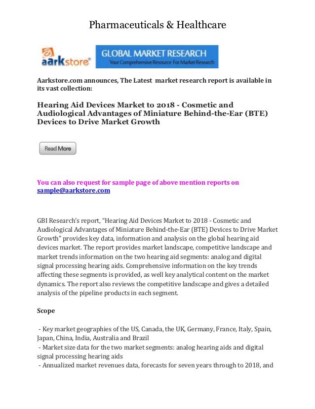 Pharmaceuticals & HealthcareAarkstore.com announces, The Latest market research report is available inits vast collection:...