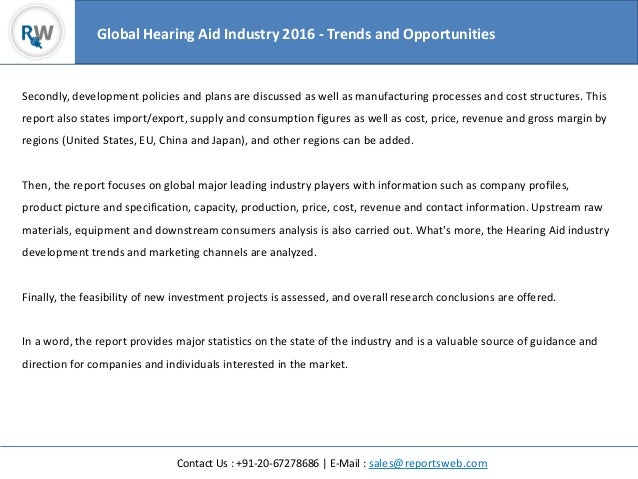 Global Hearing Aid Industry 2016 Research Study Slide 3