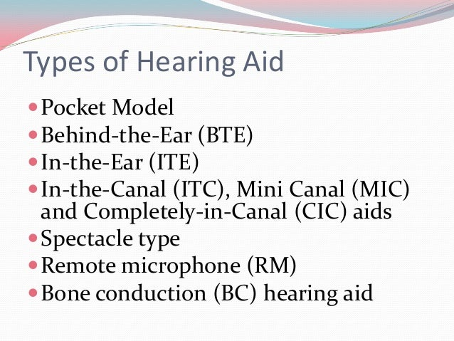 In-the-Ear (ITE)  ITE hearing aids fit completely in the outer ear and are  used for mild to severe hearing loss.  The c...