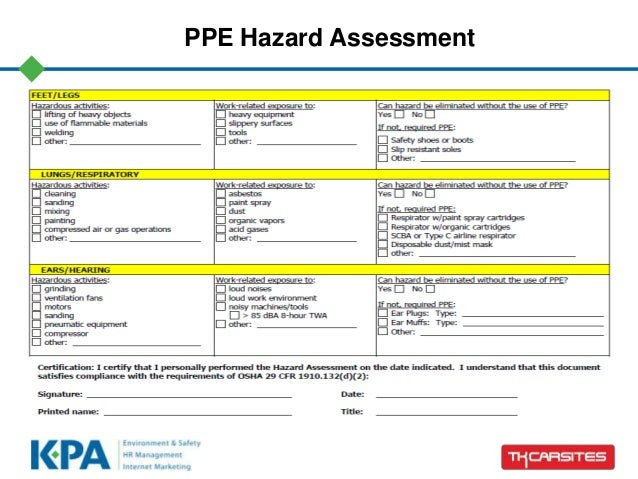 osha risk assessment template - ppe hazard pictures to pin on pinterest thepinsta