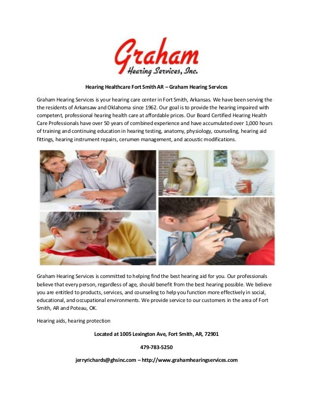 Hearing Healthcare Fort Smith AR – Graham Hearing Services Graham Hearing Services is your hearing care center in Fort Smi...