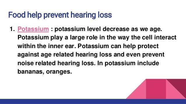 Hearing loss presentation