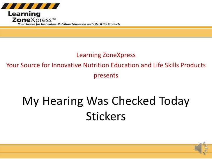 Learning ZoneXpress<br />Your Source for Innovative Nutrition Education and Life Skills Products<br />presents<br />My Hea...