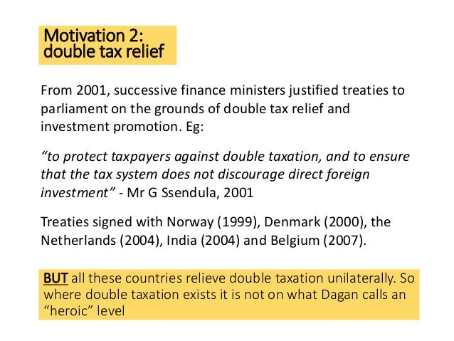 Uganda 16 motivation 2 double tax relief from 2001 sciox Gallery