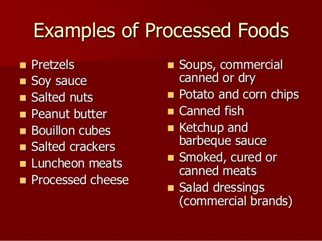 What Are Processed Foods List To Avoid