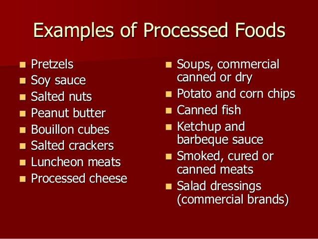 No Processed Food List