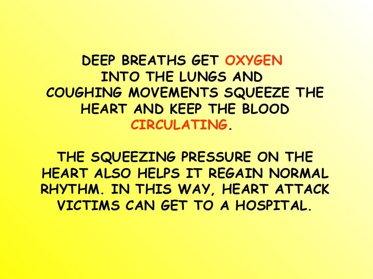 surviving a heart attack while alone Rhythmically coughing during a heart attack increases your chances of surviving how to survive a heart attack when alone while a september 2003 reuters.