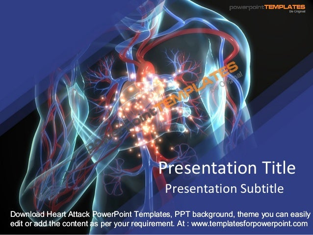 cardiac ppt template - heart attack powerpoint template