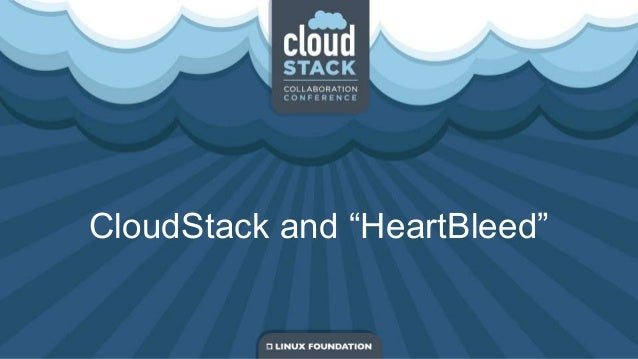 "CloudStack and ""HeartBleed"""