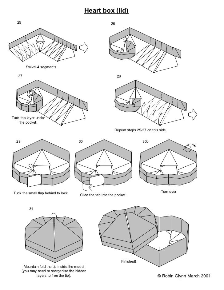 Step By Step Instructions How To Make Origami A Heart Box Stock ...   943x728