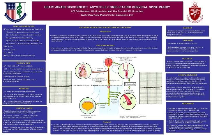 HEART-BRAIN DISCONNECT:  ASYSTOLE COMPLICATING CERVICAL SPINE INJURY CPT Erik Manninen, MC (Associate), MAJ Alex Truesdell...