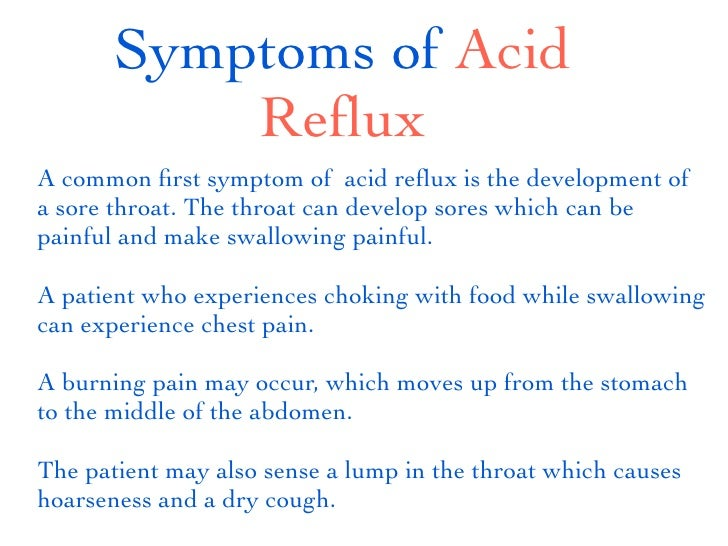 Acid Reflux Symptoms Revealed