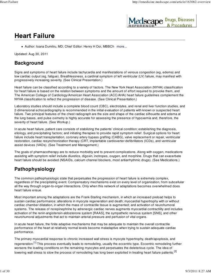 Heart Failure                                                                                   http://emedicine.medscape....