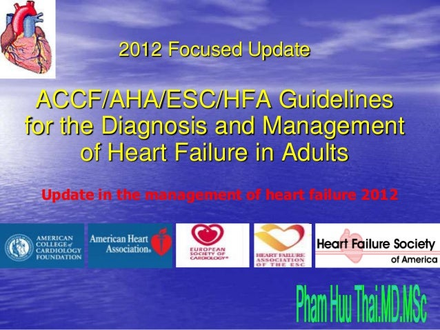 2012 Focused Update ACCF/AHA/ESC/HFA Guidelinesfor the Diagnosis and Management      of Heart Failure in Adults Update in ...