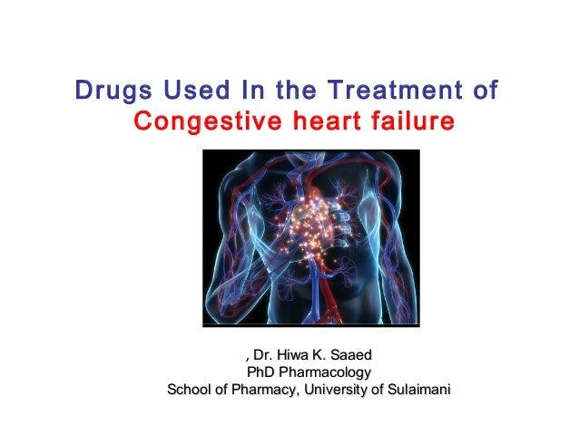 Drugs Used In the Treatment of Congestive heart failure Dr. Hiwa K. SaaedDr. Hiwa K. Saaed,, PhD PharmacologyPhD Pharmacol...
