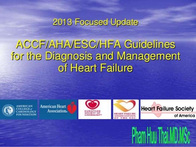 2013 Focused UpdateACCF/AHA/ESC/HFA Guidelinesfor the Diagnosis and Managementof Heart Failure