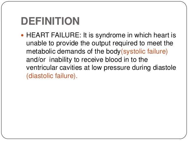 Heart failure in pediatrics sandip for Farcical failure meaning