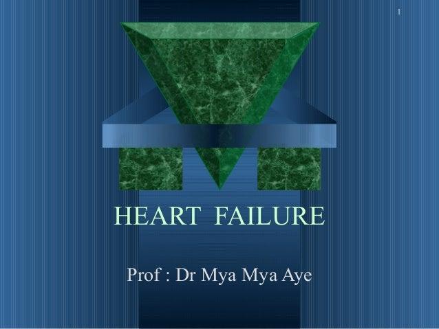 1HEART FAILUREProf : Dr Mya Mya Aye